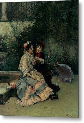 Two Spanish Women Metal Print by Ricardo de Madrazo y Garreta