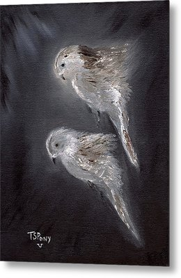 Metal Print featuring the painting Two Spirits In The Night by Barbie Batson