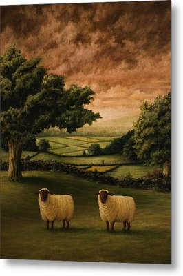 Two Suffolks Metal Print by Mark Zelmer