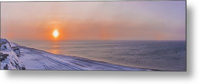 Two Sundogs Hang In The Air Over The Metal Print