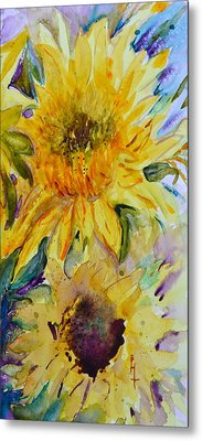 Two Sunflowers Metal Print