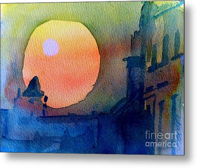 Two Suns Metal Print by Sandra Stone