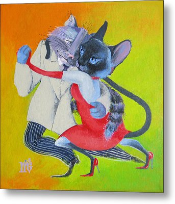 Two To Cats' Tango Metal Print