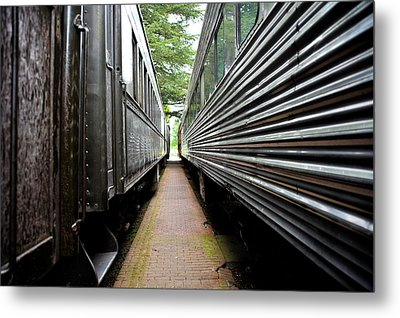 Metal Print featuring the photograph Two Trains by Crystal Hoeveler