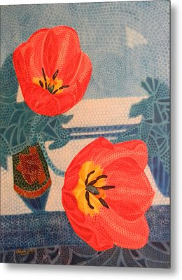 Two Tulips Metal Print by Adel Nemeth