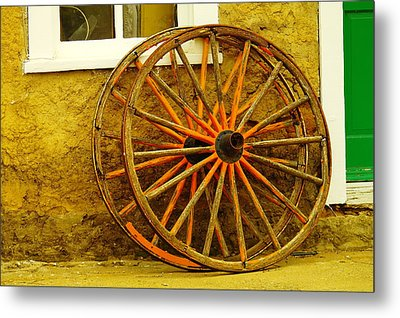 Two Wagon Wheels Metal Print by Jeff Swan