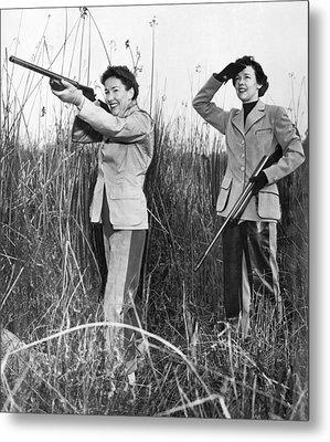 Two Women Hunting Metal Print