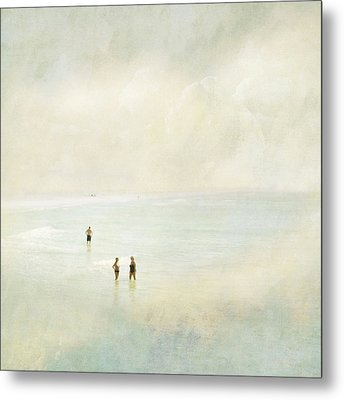 Metal Print featuring the photograph Two Women One Man by Karen Lynch