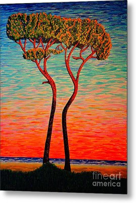 Two.sunrise. Metal Print