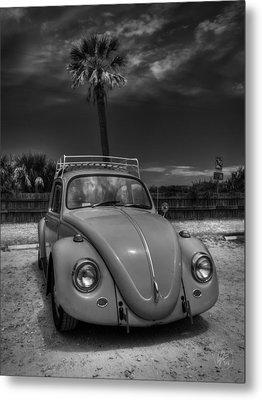Tybee Island Beach Bug 002 Bw Metal Print by Lance Vaughn