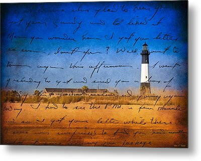 Tybee Island Lighthouse - A Sentimental Journey Metal Print by Mark E Tisdale