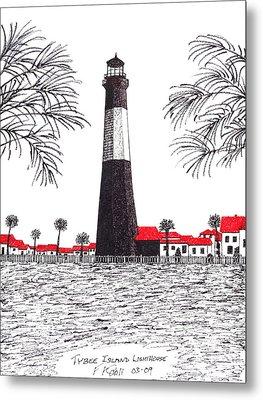 Tybee Island Lighthouse Metal Print by Frederic Kohli
