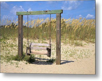 Metal Print featuring the photograph Tybee Island Swing by Gordon Elwell