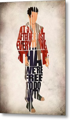 Tyler Durden Metal Print by Ayse Deniz