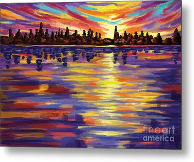 Metal Print featuring the painting Tyler's Sunrise by Tim Gilliland