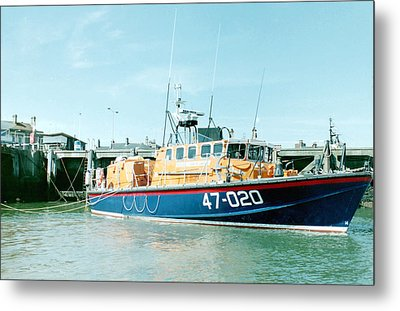 Tyne Class Lifeboat 47-020  Metal Print by Ted Denyer