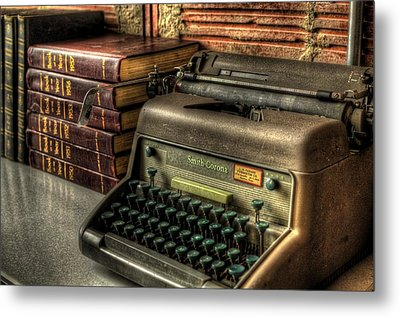 Typewriter Metal Print by David Morefield