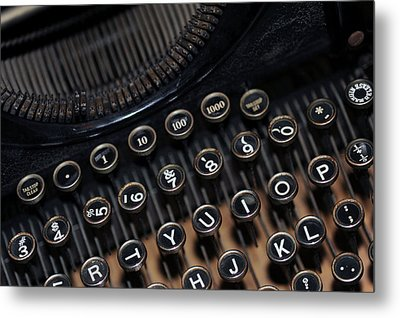 Typewriter Remembered Metal Print by Harold E McCray
