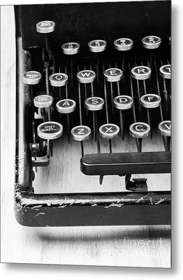 Typewriter Triptych Part 1 Metal Print