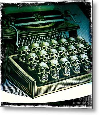 Metal Print featuring the photograph Typewriter With A Difference by Nina Prommer