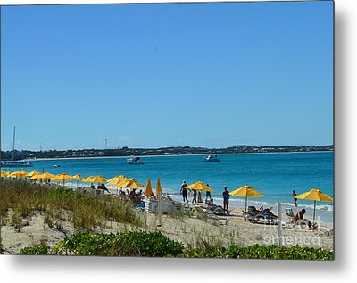 Metal Print featuring the photograph Typical Beach Day by Judy Wolinsky