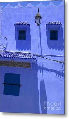 Metal Print featuring the photograph Typical Blue Facade In The Medina Of Asilah On Northwest Tip Of Atlantic Coast Of Morocco by Ralph A  Ledergerber-Photography