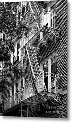 Typical Building Of Brooklyn Heights - Brooklyn - New York City Metal Print