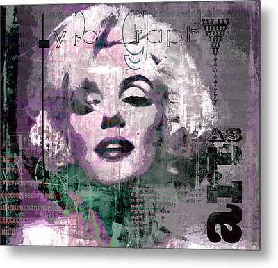 typOGraphi Metal Print by Kim Gauge
