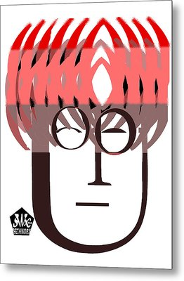 Typortraiture John Lennon Metal Print by Seth Weaver