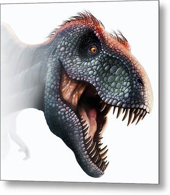 Tyrannosaurus Rex Head Metal Print