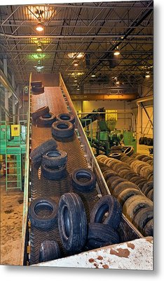 Tyre Recycling Facility Metal Print by Jim West