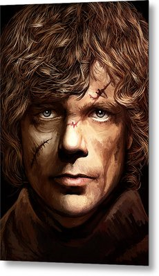 Metal Print featuring the painting Tyrion Lannister - Peter Dinklage Game Of Thrones Artwork 2 by Sheraz A