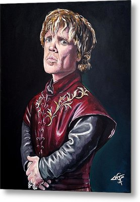 Tyrion Lannister Metal Print by Tom Carlton