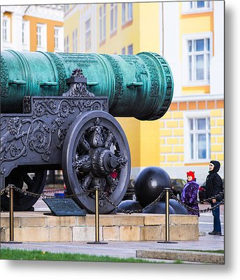 Tzar Cannon Of Moscow Kremlin - Square Metal Print by Alexander Senin