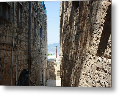 Metal Print featuring the photograph Tzfat Narrow Path by Julie Alison