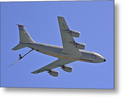 Metal Print featuring the photograph U S Air Force Flyover by DigiArt Diaries by Vicky B Fuller