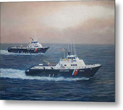 U. S. Coast Guard Surface Effects Ships Sea Sea Hawk And Shearwater  Metal Print by William H RaVell III