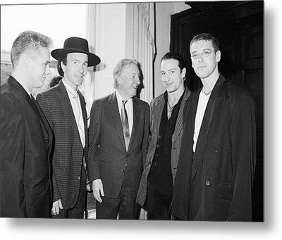 U2 Meet Taoiseach Charles Haughey Metal Print by Irish Photo Archive