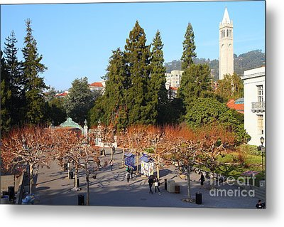 Uc Berkeley . Sproul Plaza . Sather Gate And Sather Tower Campanile . 7d10002 Metal Print by Wingsdomain Art and Photography