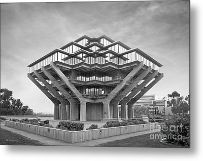 University Of California San Diego Geisel Library  Metal Print by University Icons