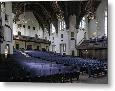 Uf University Auditorium Interior And Seating Metal Print by Lynn Palmer