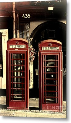 Uk Phone Box Metal Print by Craig B