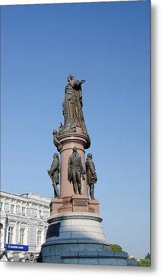 Ukraine, Odessa Downtown Odessa, Statue Metal Print