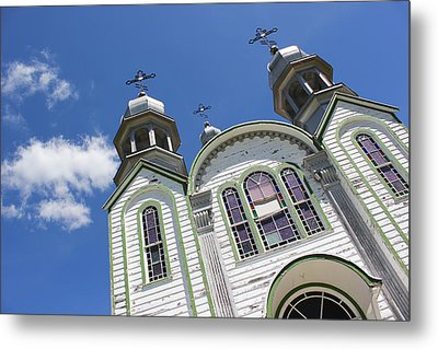 Metal Print featuring the photograph Ukrainian Orthodox Church - Wroxton by Ryan Crouse