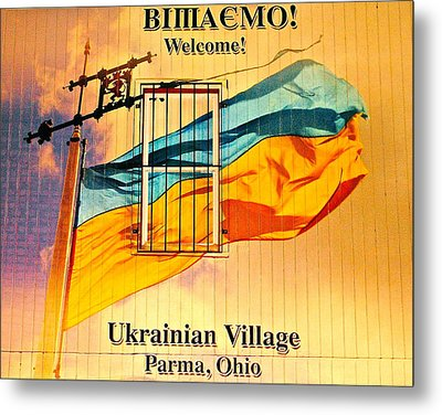 Ukrainian Village Ohio Metal Print by Frozen in Time Fine Art Photography