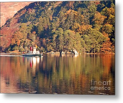 Ullswater Steamer Metal Print by Linsey Williams