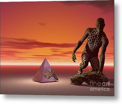 Metal Print featuring the digital art Ultimatum - Surrealism by Sipo Liimatainen