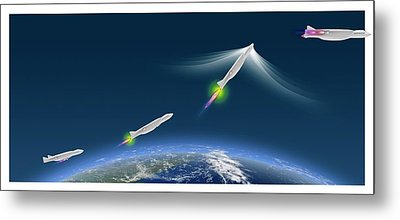 Ultra-rapid Air Vehicle Metal Print