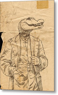 General Alligator Metal Print by H James Hoff