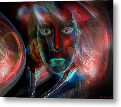 Metal Print featuring the digital art Umbilical Connection To A Dream  by Otto Rapp